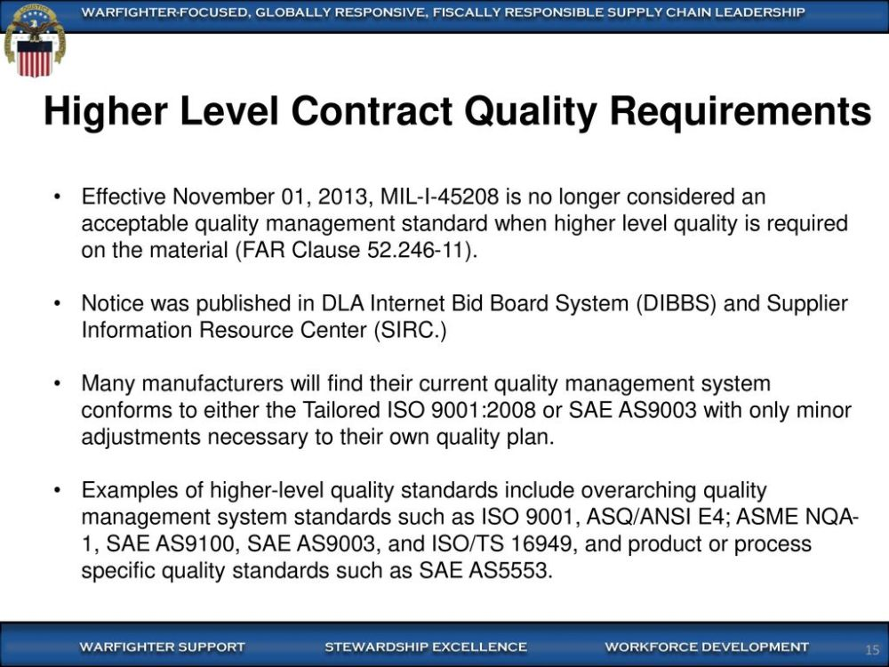 medium resolution of higher level contract quality requirements