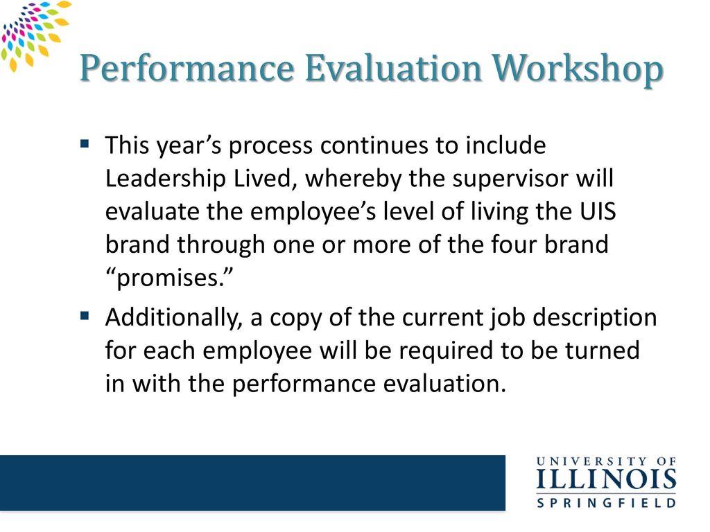 Performance Evaluation Workshop