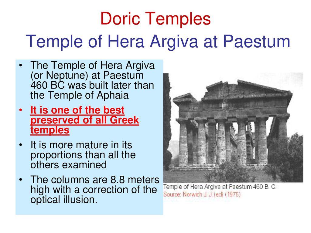 hight resolution of doric temples temple of hera argiva at paestum