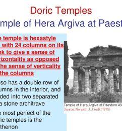 doric temples temple of hera argiva at paestum [ 1024 x 768 Pixel ]