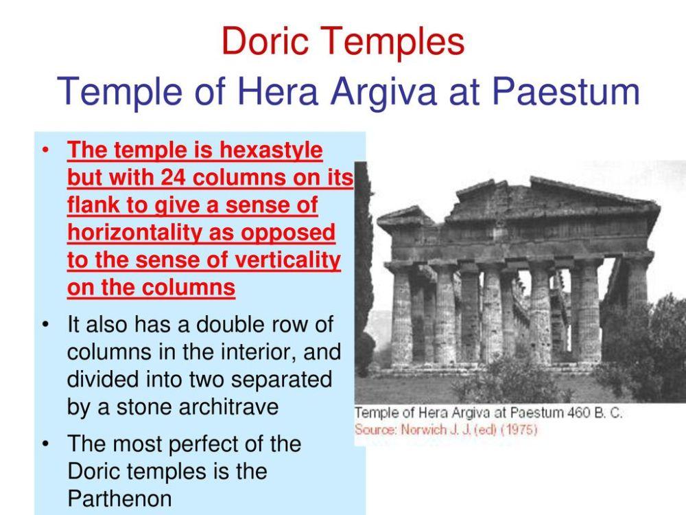medium resolution of doric temples temple of hera argiva at paestum