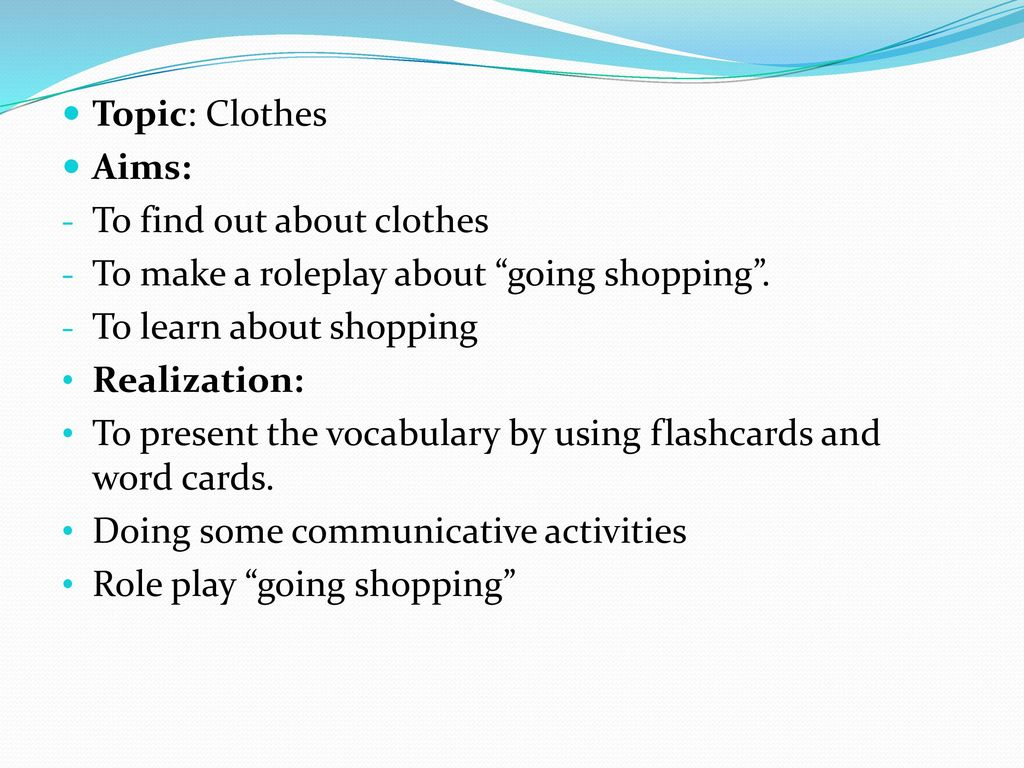 Clothes Shopping Role Play