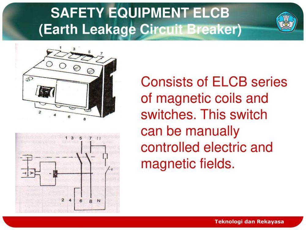 medium resolution of safety equipment elcb earth leakage circuit breaker