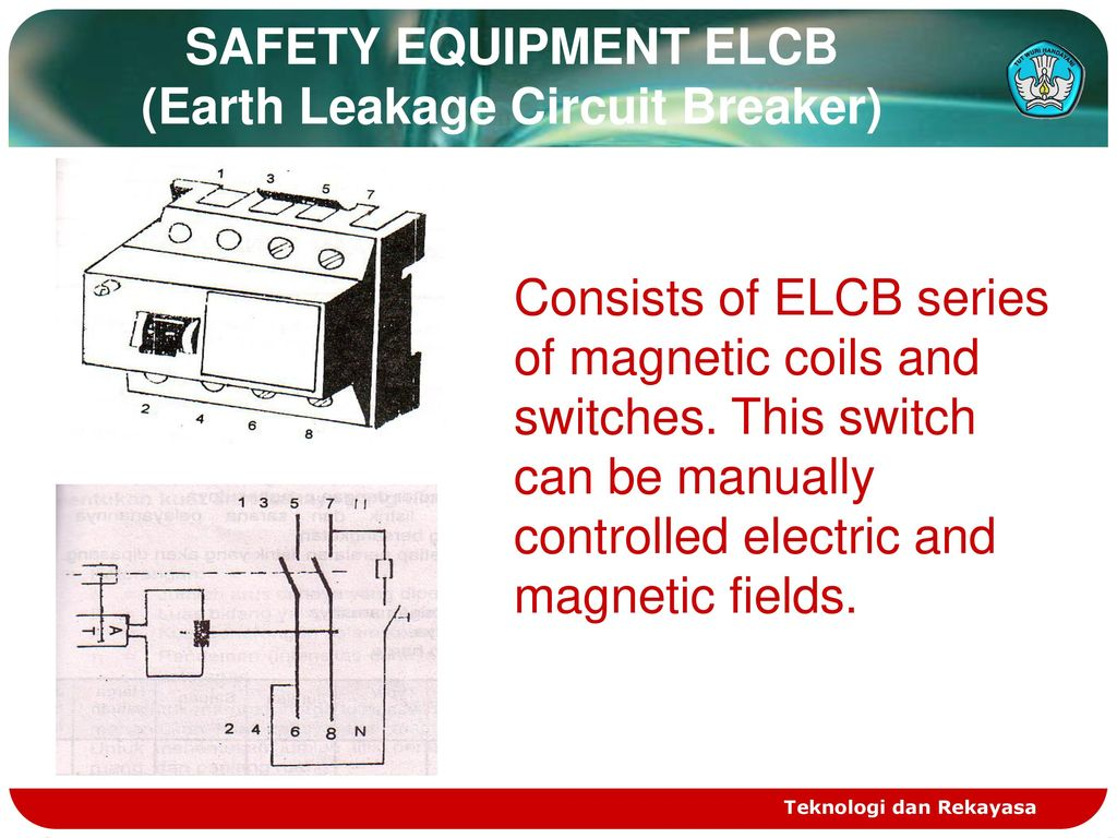 hight resolution of safety equipment elcb earth leakage circuit breaker