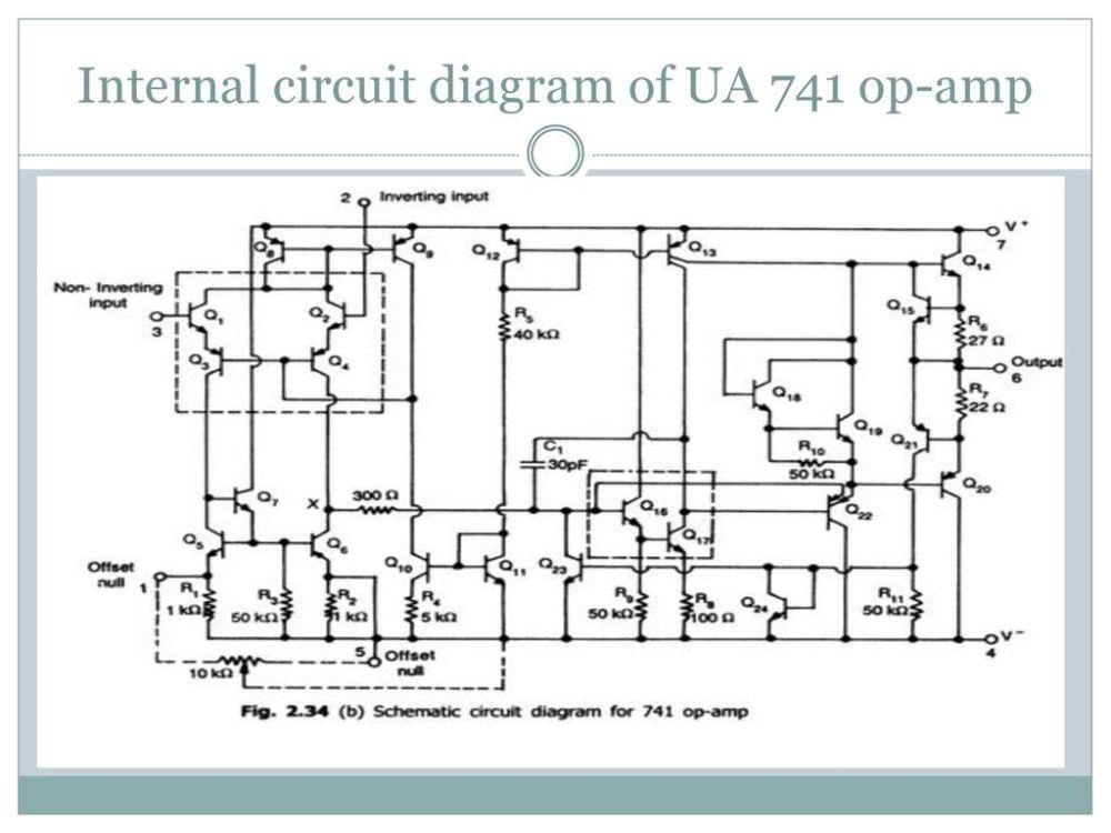 medium resolution of 17 internal circuit diagram of ua 741 op amp