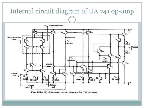 small resolution of 17 internal circuit diagram of ua 741 op amp