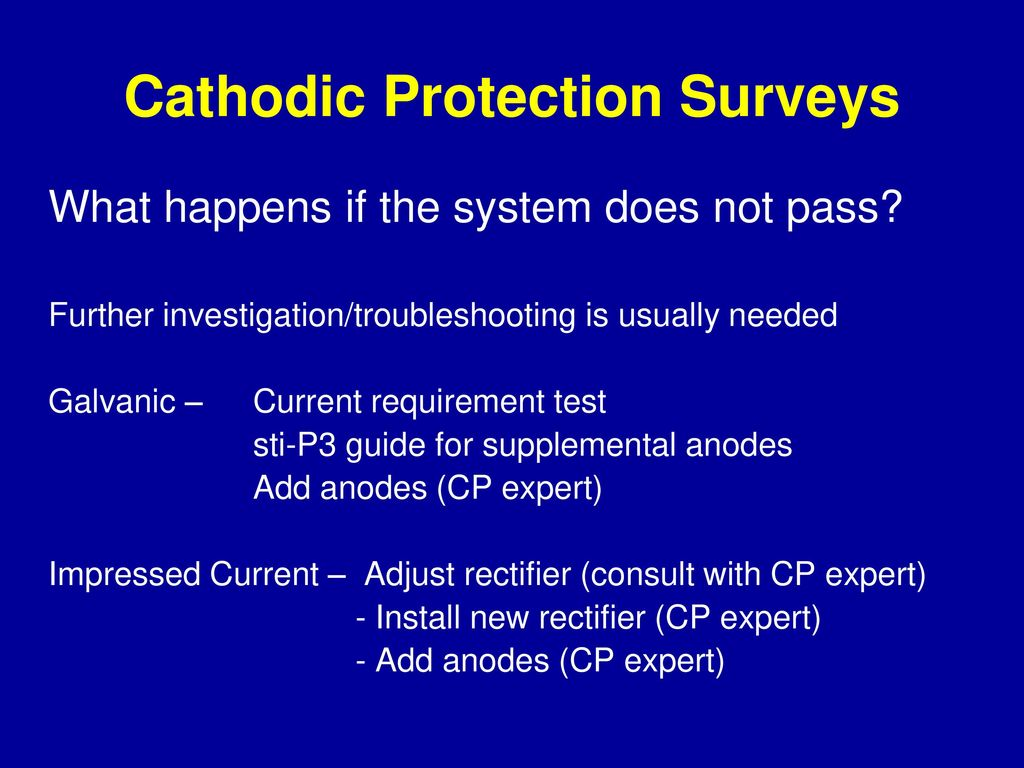 hight resolution of cathodic protection surveys