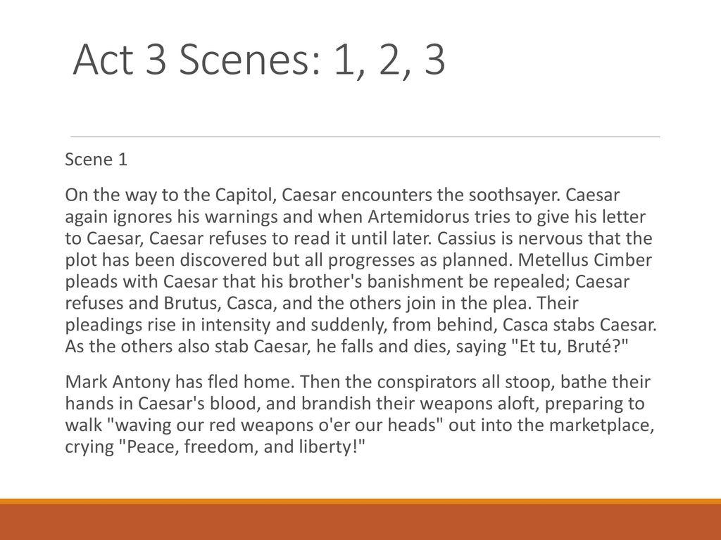 Ysis Julius Caesar Act 3 Scene 1