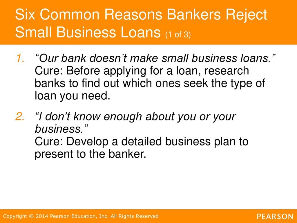 Six Common Reasons Bankers Reject Small Business Loans (1 Of 3)