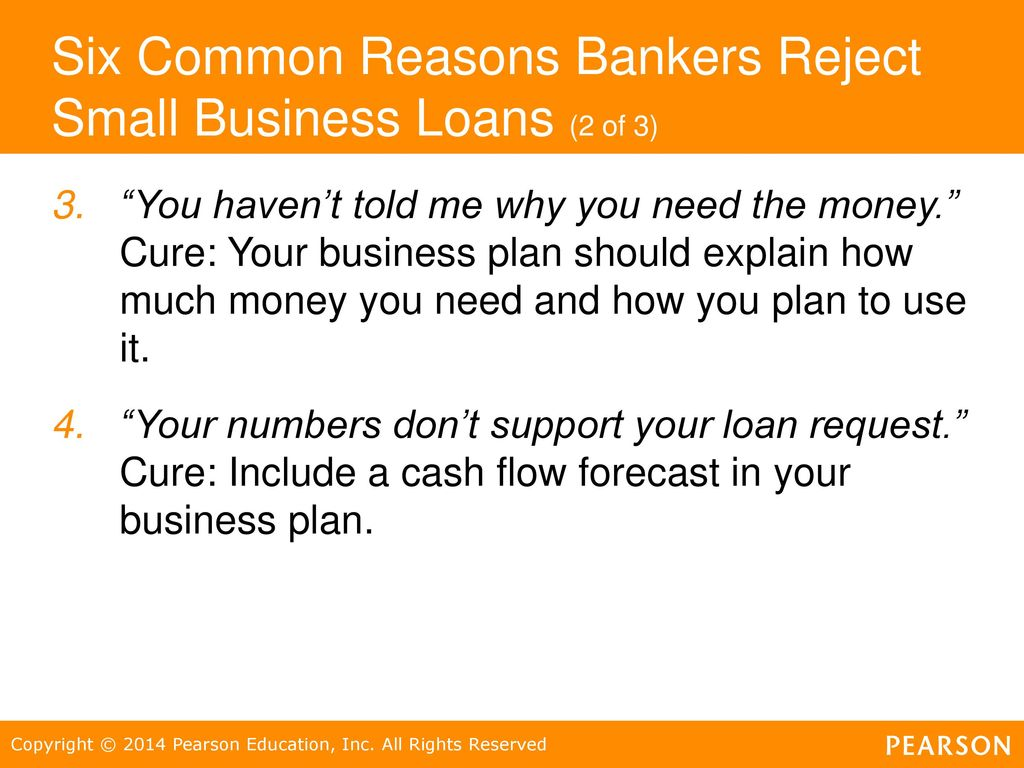 Six Common Reasons Bankers Reject Small Business Loans (2 Of 3)