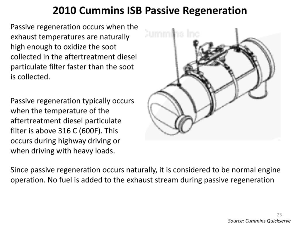 hight resolution of 2010 cummins isb passive regeneration