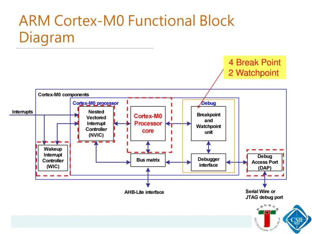 medium resolution of arm cortex m0 functional block diagram