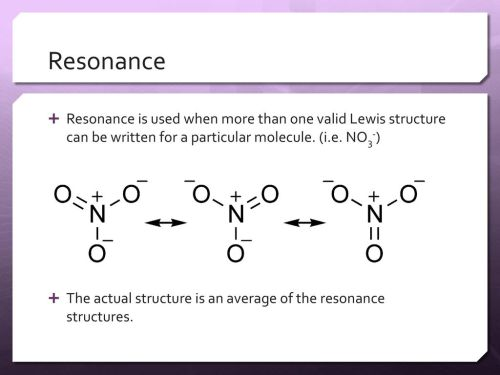 small resolution of resonance resonance is used when more than one valid lewis structure can be written for a