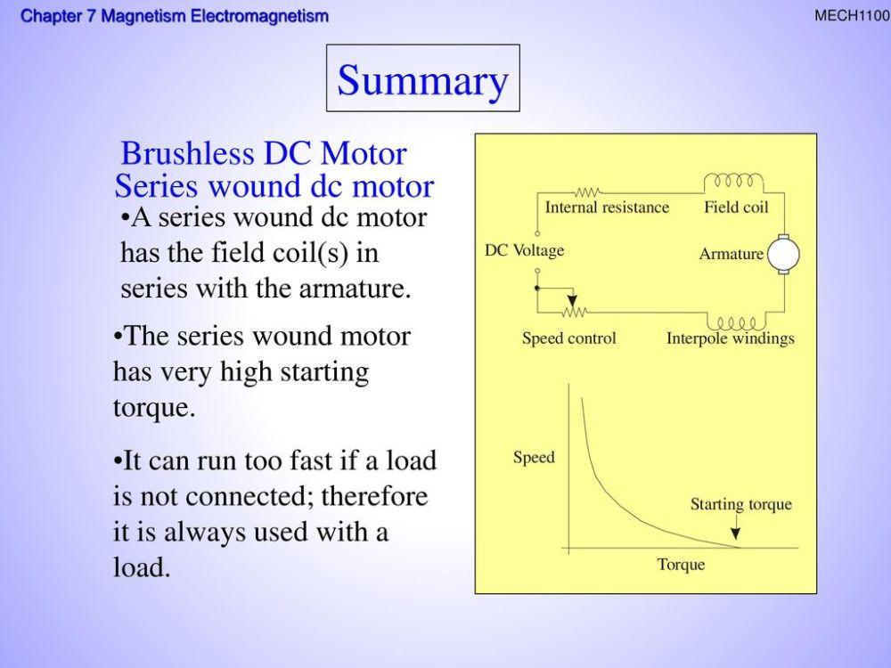 medium resolution of summary brushless dc motor series wound dc motor