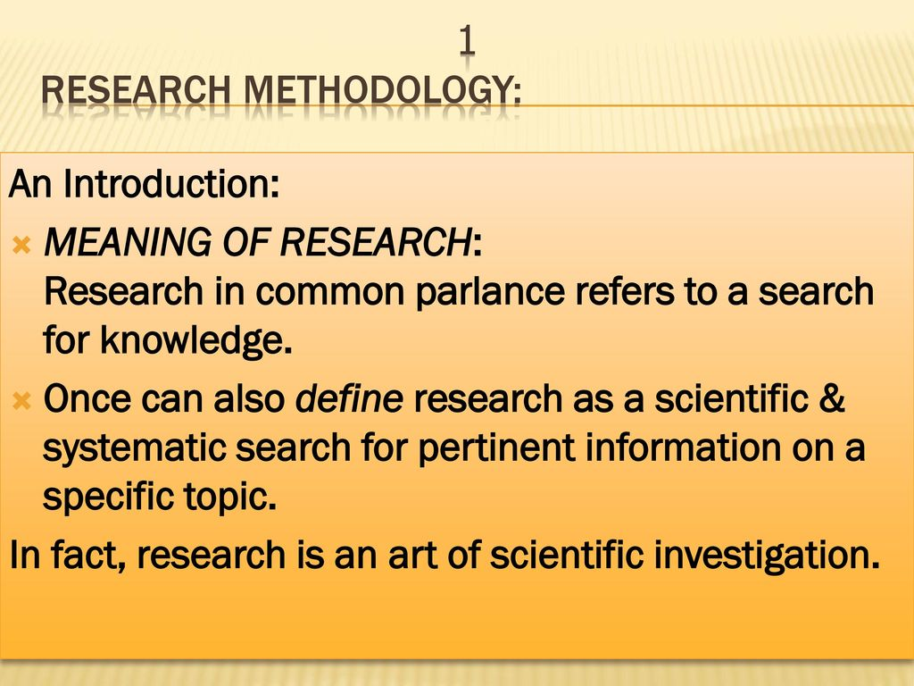 Define Meaning Research