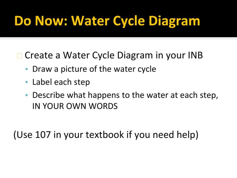 medium resolution of do now water cycle diagram
