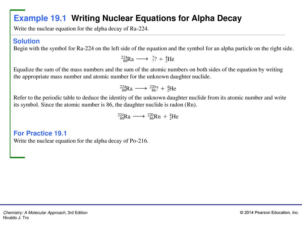 Types Of Decay Reactions Worksheet