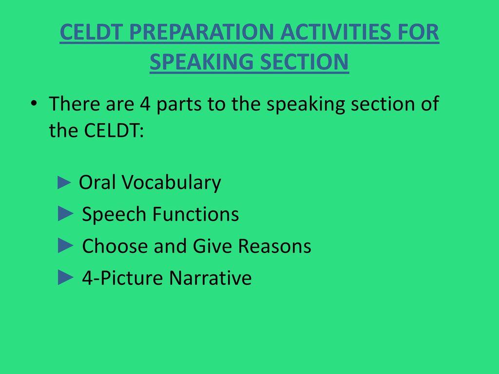 Celdt Test Prep Revised By Mrs Lopez Dvms