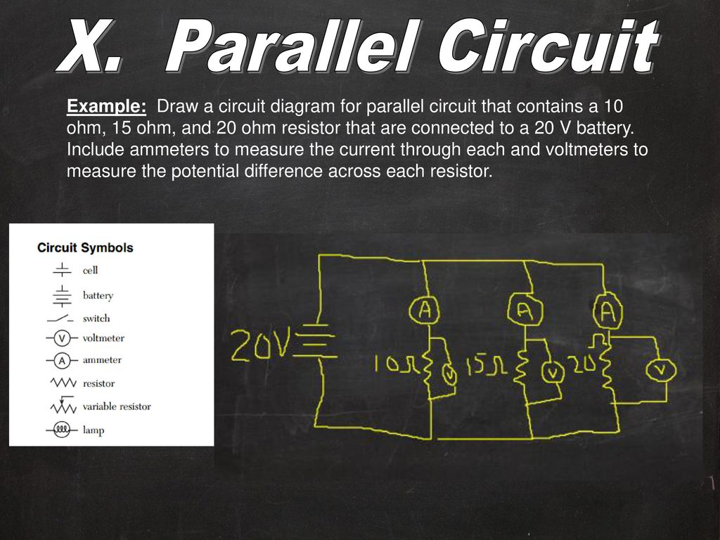 hight resolution of x parallel circuit