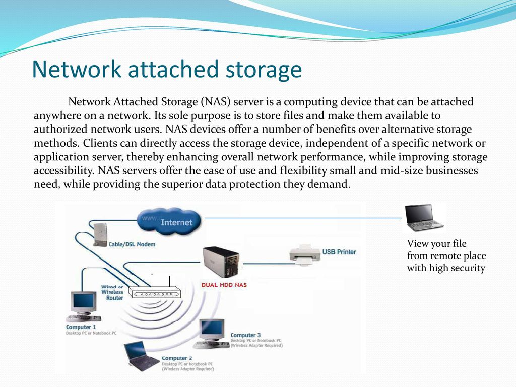 hight resolution of network attached storage