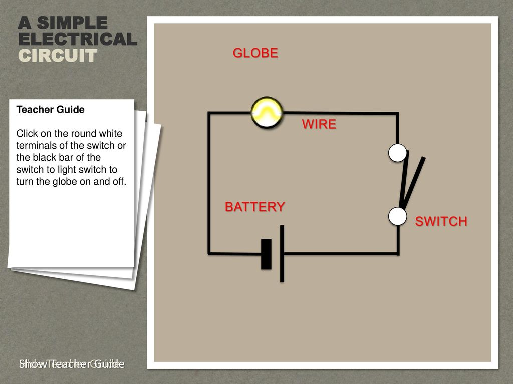 hight resolution of a simple electrical circuit globe wire battery switch
