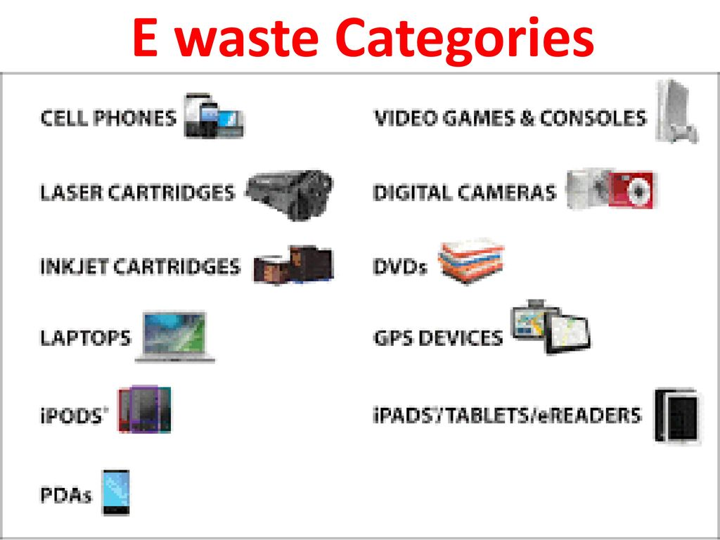 hight resolution of 9 e waste categories
