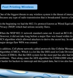 foot printing wireless [ 1024 x 768 Pixel ]