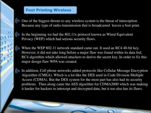 small resolution of foot printing wireless