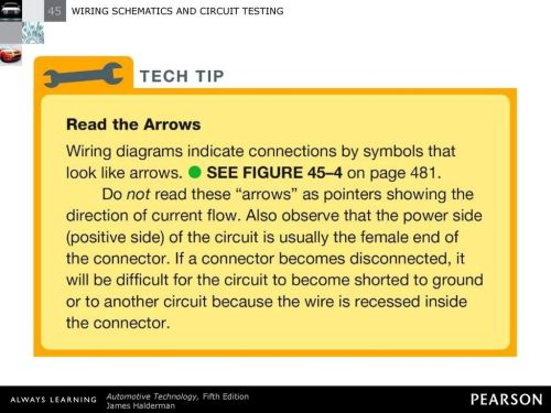 small resolution of 6 tech tip read the arrows wiring diagrams indicate