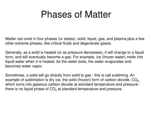 small resolution of phases of matter
