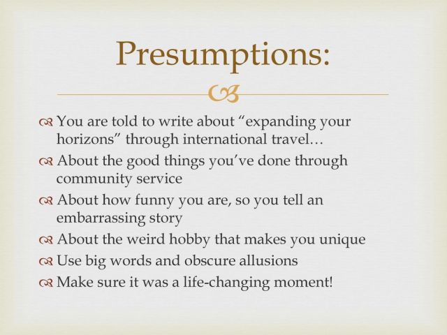 College Essays and Personal Statements - ppt download