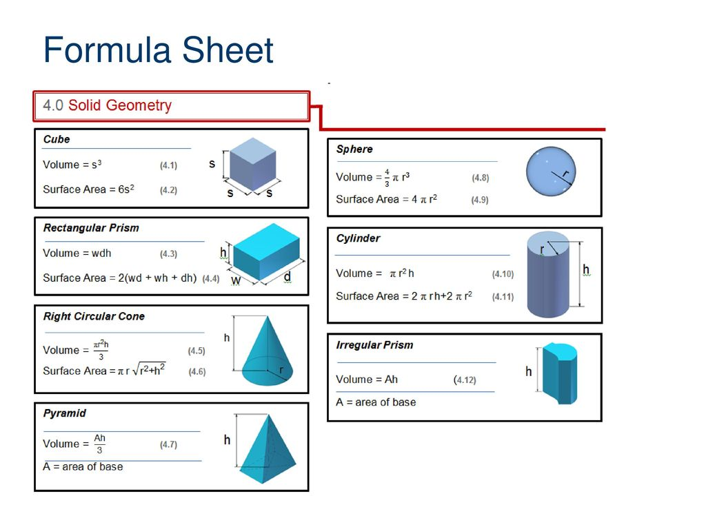 Properties Of Geometric Solids