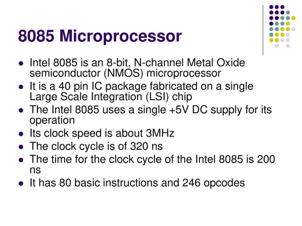 medium resolution of 8 8085 microprocessor