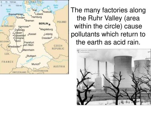 small resolution of 14 the many factories along the ruhr valley area within the circle cause pollutants which return to the earth as acid rain