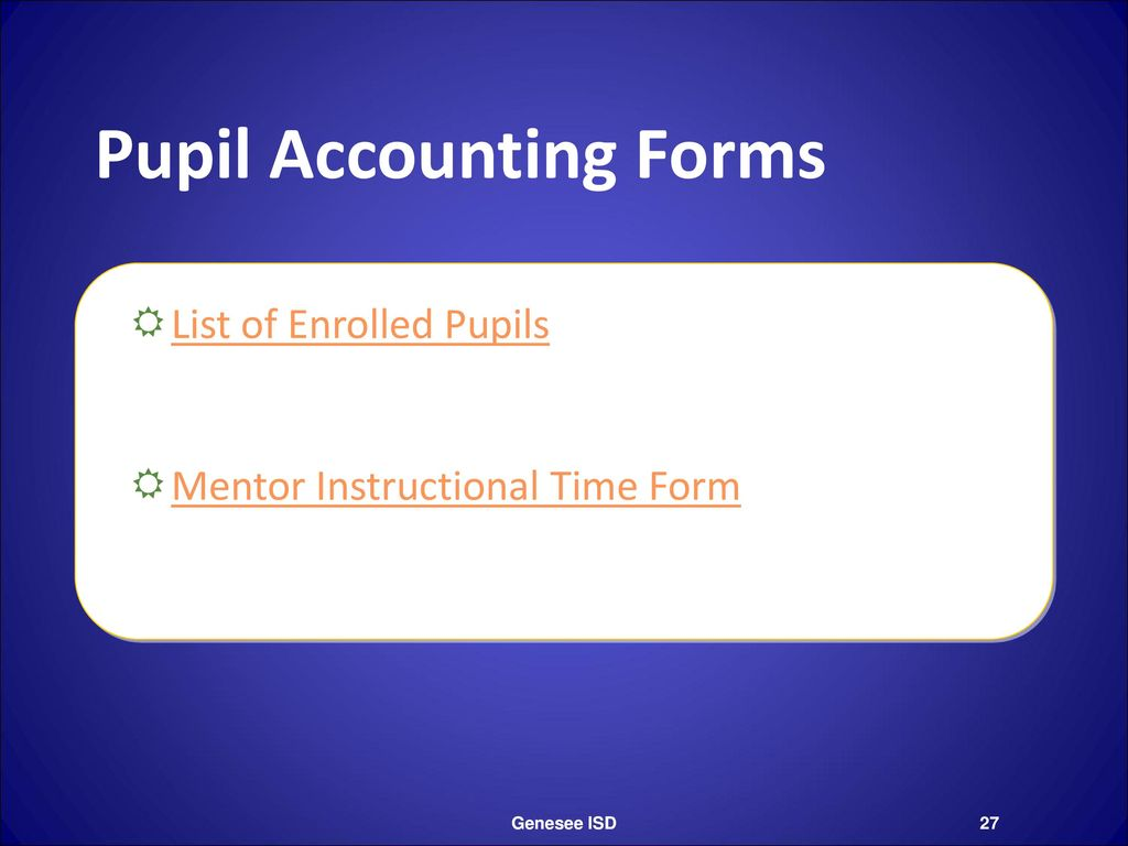 Pupil Accounting Forms