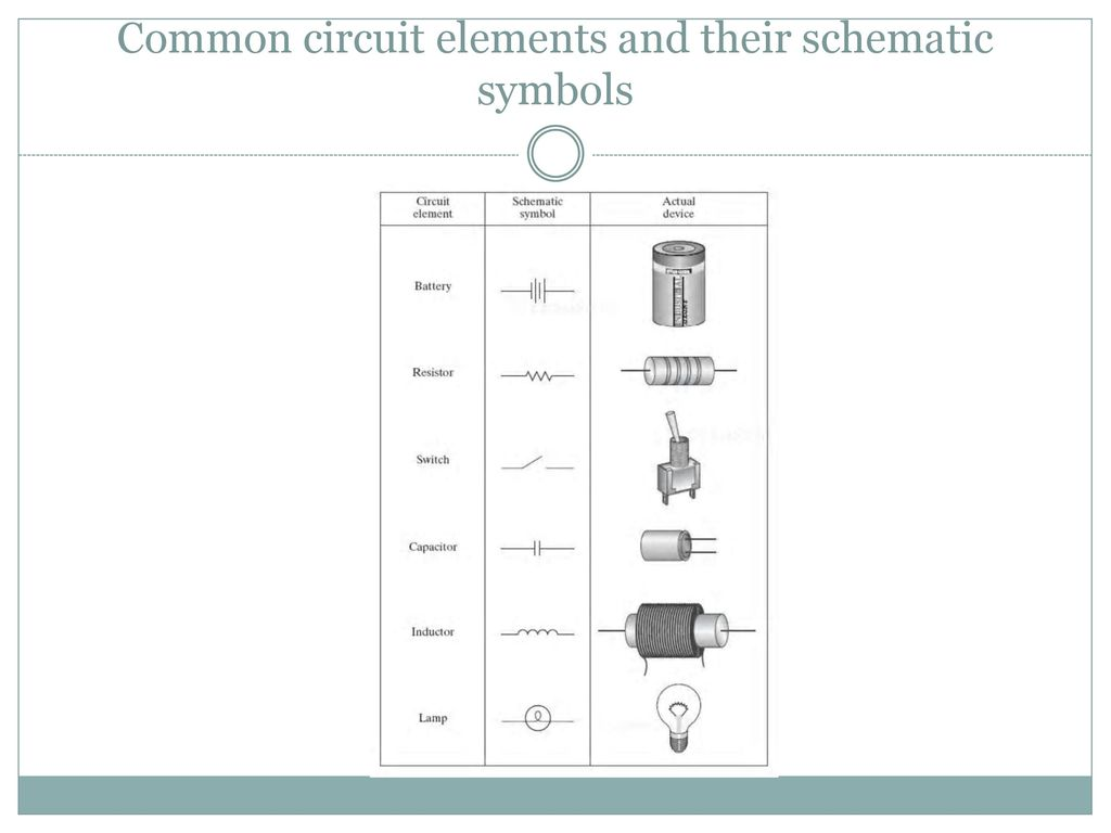 hight resolution of 28 common circuit elements and their schematic symbols