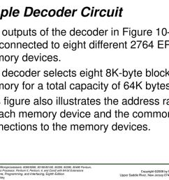 figure 10 14 the 74ls138 3 to 8 line decoder and function table 21 sample decoder circuit [ 1024 x 768 Pixel ]