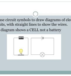 we use circuit symbols to draw diagrams of electrical circuits with straight lines to show [ 1024 x 768 Pixel ]