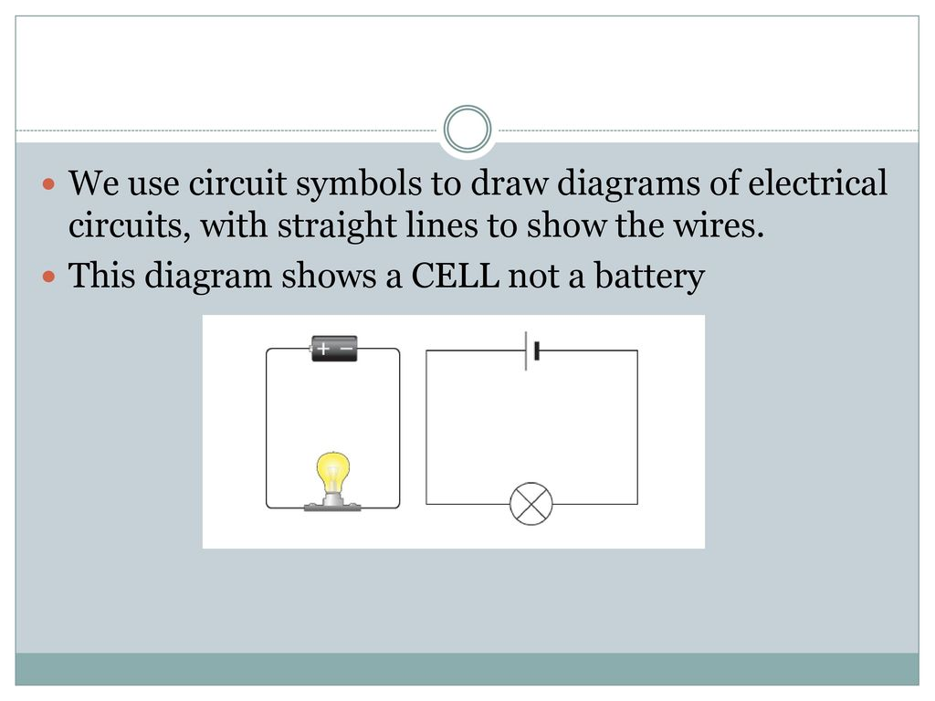 hight resolution of we use circuit symbols to draw diagrams of electrical circuits with straight lines to show