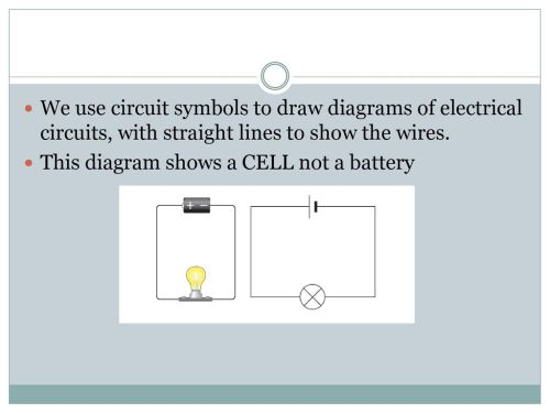 small resolution of we use circuit symbols to draw diagrams of electrical circuits with straight lines to show