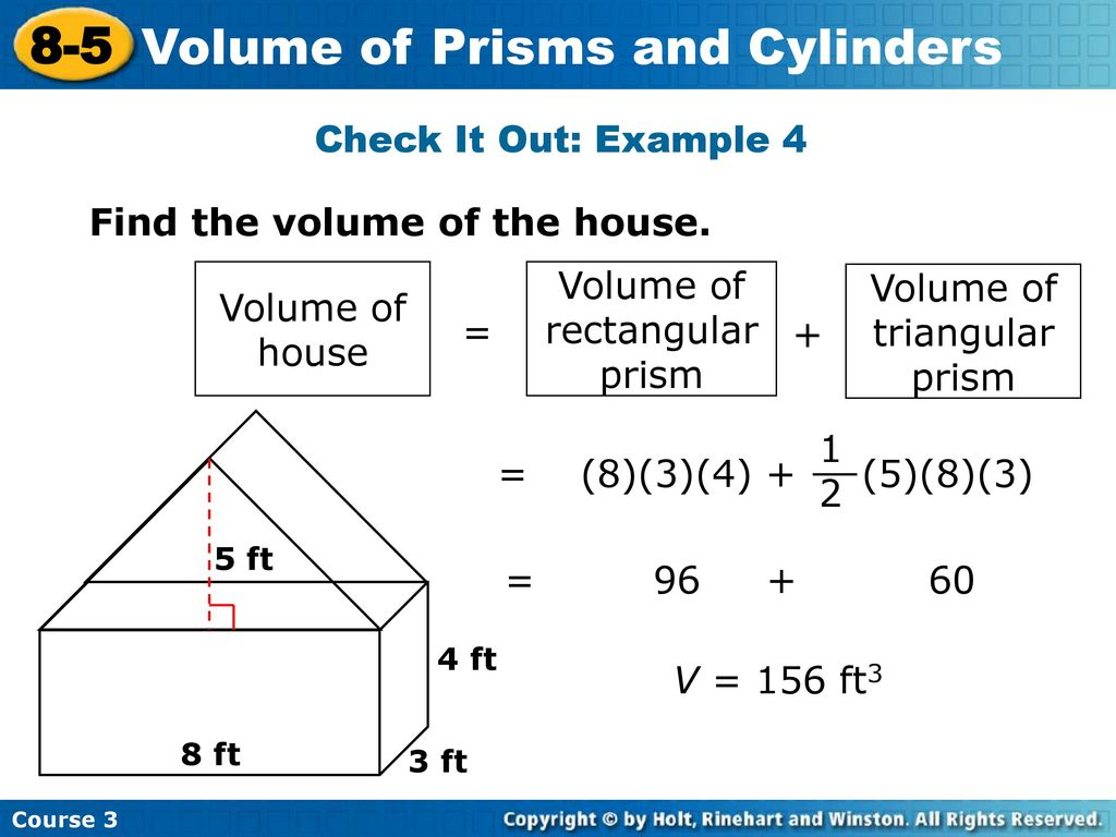 8 5 Problem Solving Volume Of Prisms And Cylinders