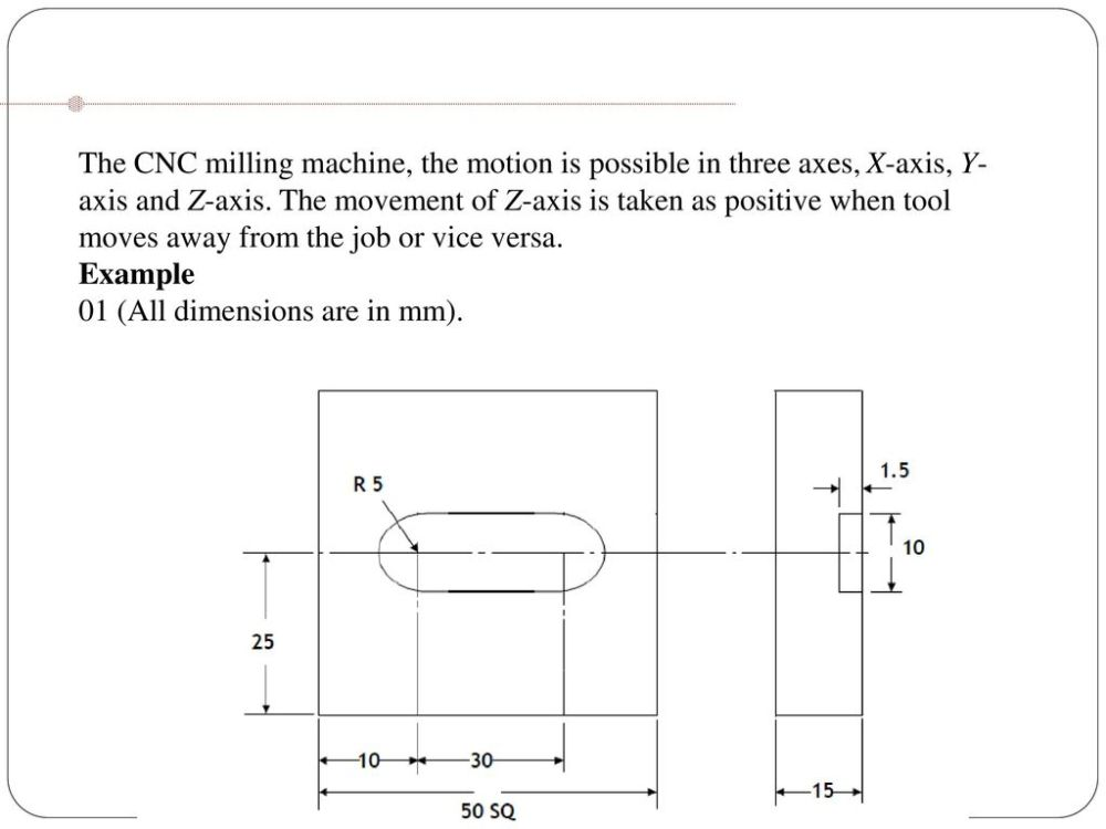 medium resolution of 39 the cnc milling machine the motion is possible in three axes x axis y axis and z axis the movement of z axis is taken as positive when tool moves