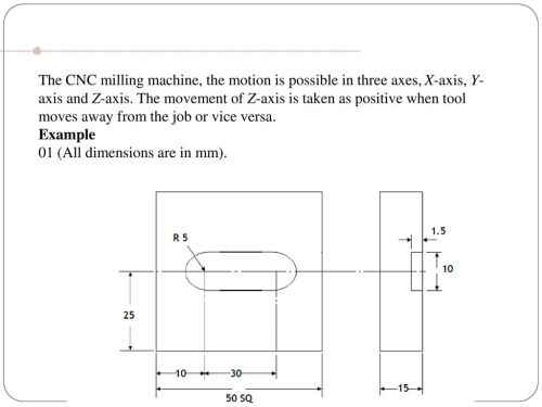small resolution of 39 the cnc milling machine the motion is possible in three axes x axis y axis and z axis the movement of z axis is taken as positive when tool moves