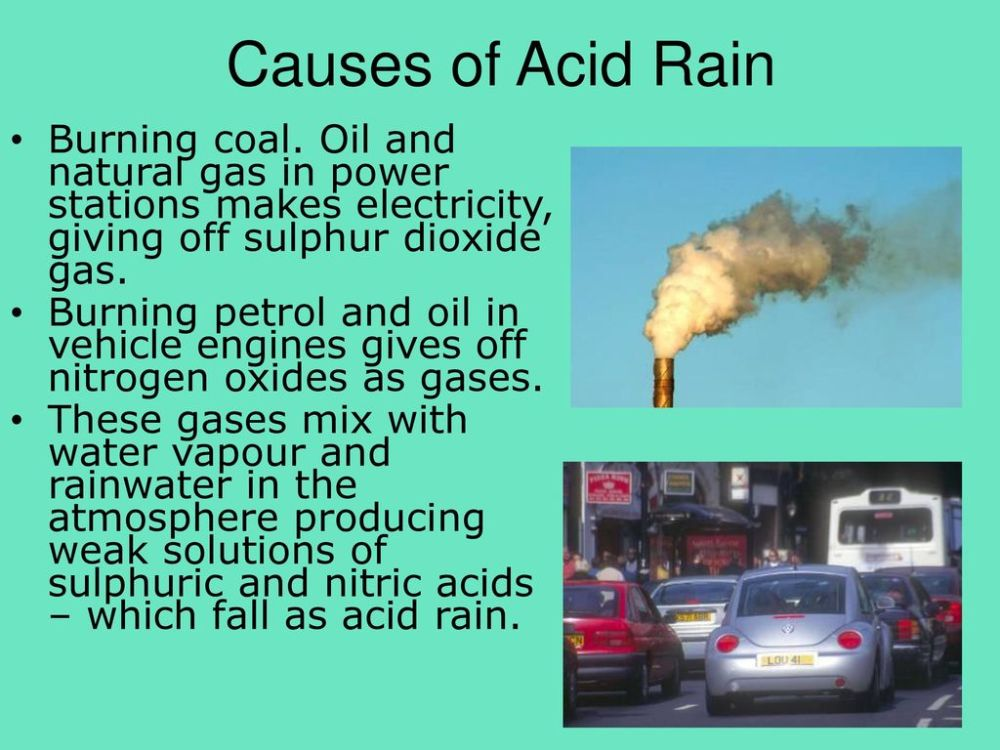 medium resolution of causes of acid rain burning coal oil and natural gas in power stations makes electricity
