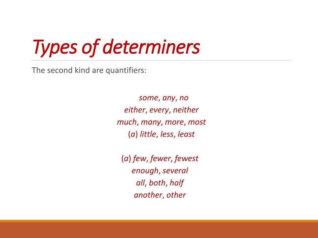 hight resolution of Determiners. - ppt download