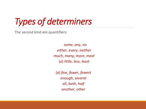 small resolution of Determiners. - ppt download