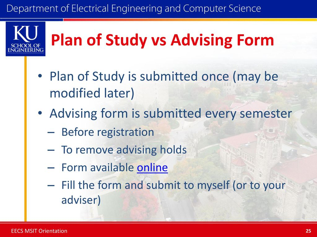 hight resolution of plan of study vs advising form