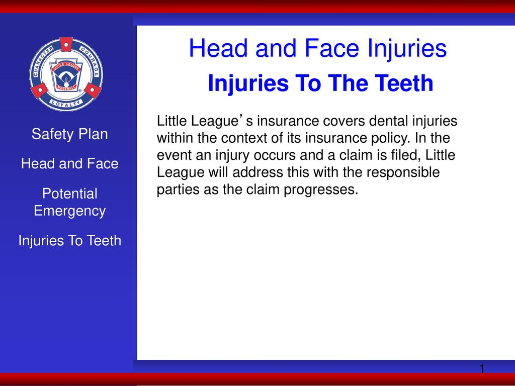 Head And Face Injuries Injuries To The Teeth Safety Plan