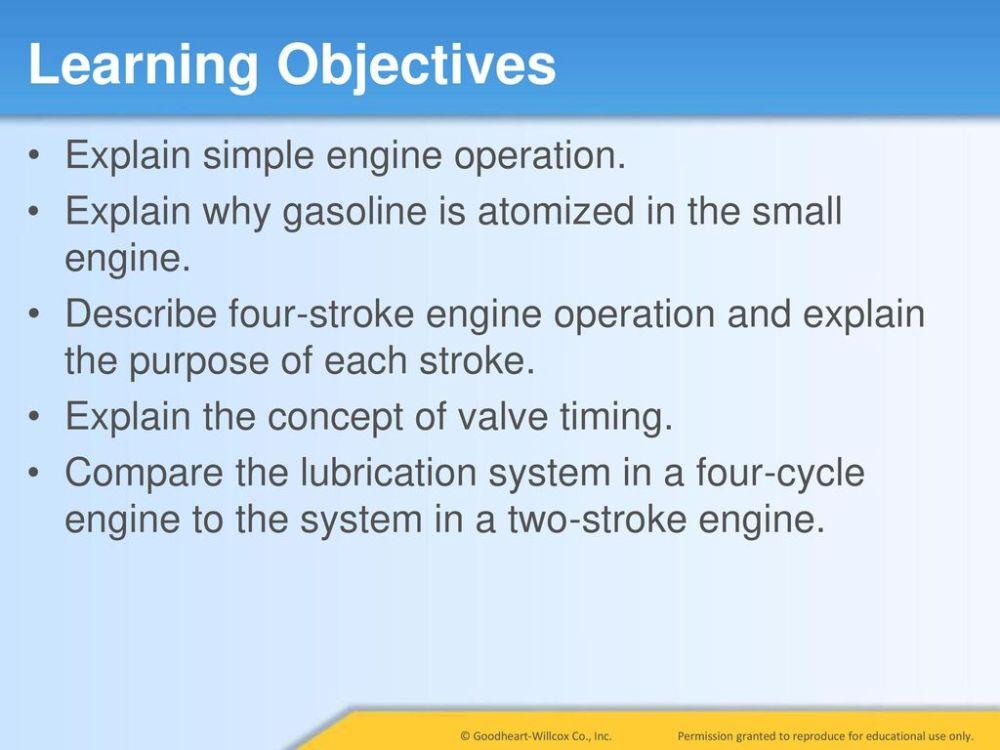 medium resolution of learning objectives explain simple engine operation
