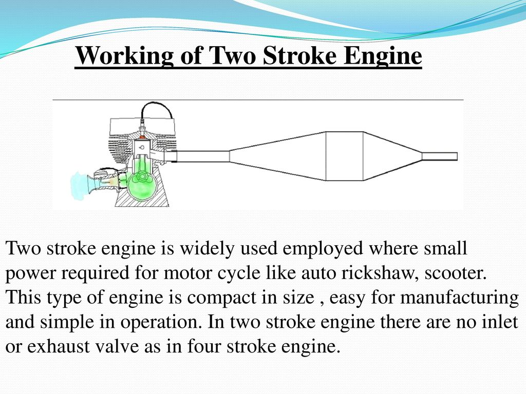 hight resolution of working of two stroke engine
